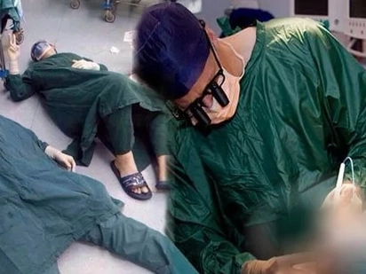 Two Doctors collapsed after their 32-hour brain tumor removal operation and considers the longest surgical operation in China