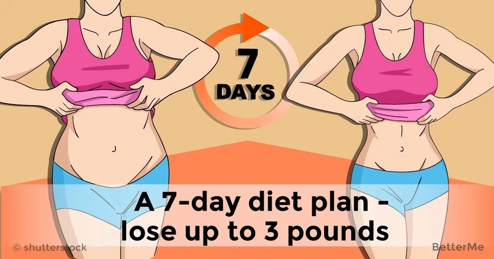 A 7-day diet plan - lose up to 3 pounds