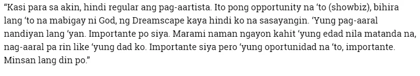 Amazing Ving talaga! Awra Briguela gives importance to his studies while working