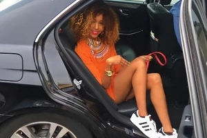 The West Ham United footballer socialite Huddah Monroe is apparently dating