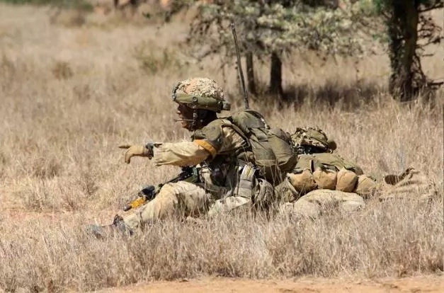 British and Kenyan commandos in joint military exercise