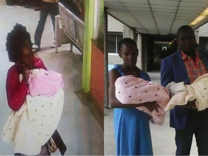 Police find 3-week-old baby stolen from KNH, rescue kidnapper from irate mob