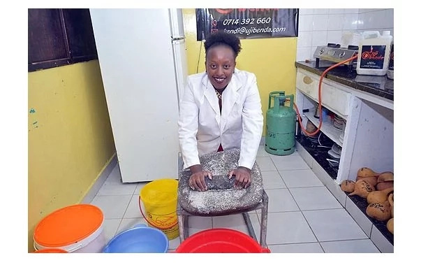 Amazing! Young Kenyan graduate quits her job to sell UJI
