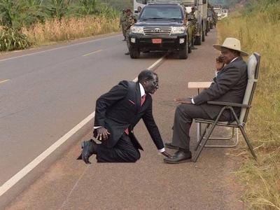 The hilarious photos of Kenyans taking the Museveni challenge