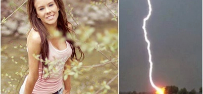 17-year-old girl gets struck by lightning while pleasing herself under the tree