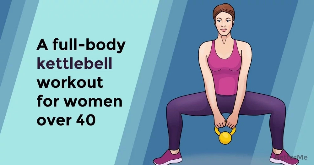 A full-body kettlebell workout for women over 40