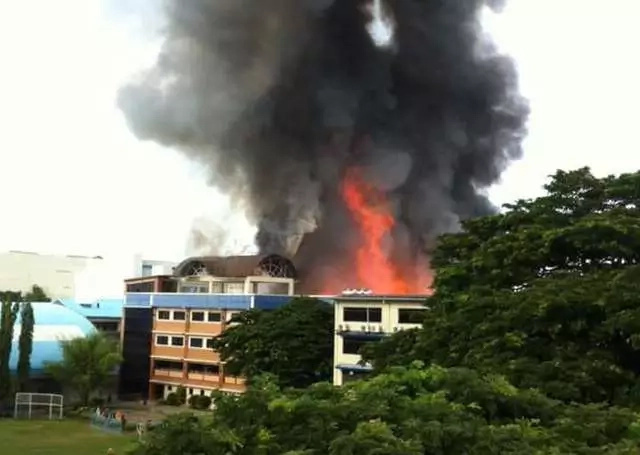 Ateneo de Zamboanga destroyed by fire