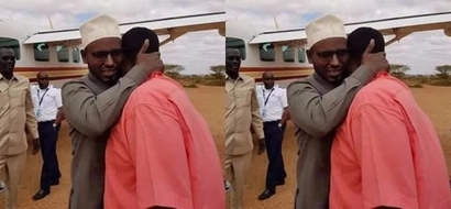 NASA and Jubilee governors break into tears upon meeting at an airstrip