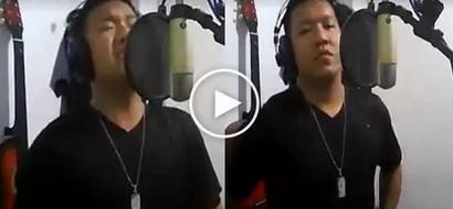 Astig talaga ang pinoy:  Famous PH policeman belts classic hit