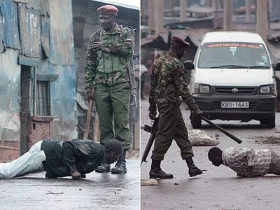 GSU officers SAVAGELY beat up Kenyan politician and poke wife's breast
