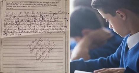 Mamá compartió conmovedora nota que escribió su hijo autista