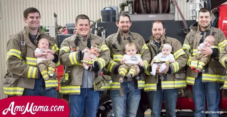 Cada mes un nuevo bebé aparecía en este departamento de bomberos. Los ciudadanos no podían creerlo cuando descubrieron la razón...