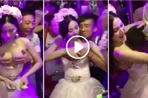 "Chinese Bride ""Allows Guest To Molest Her During Ceremony"" (Video)"