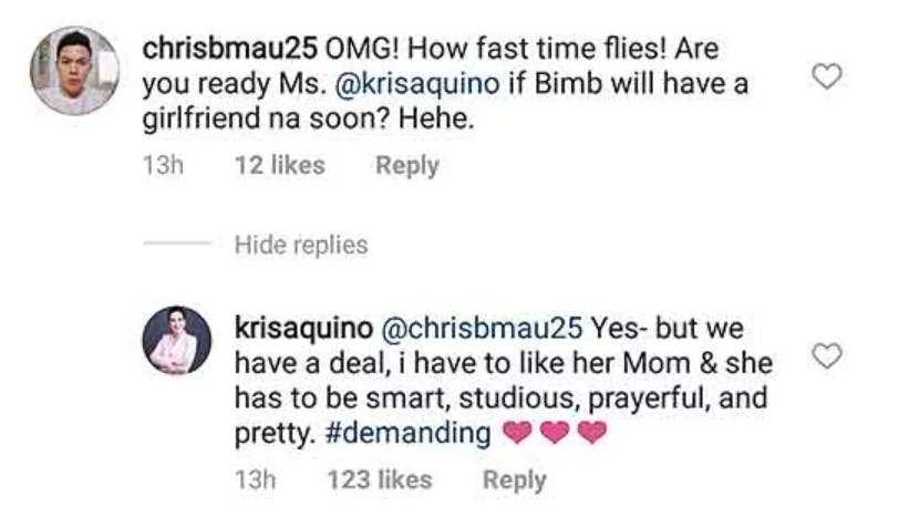 "Kailangan pumasa kay mommy! Kris Aquino lists down her ""#demanding"" requirements for Bimby's future girlfriend"