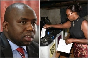 Senator Murkomen celebrates SWEET victory after tagging along daughter to polling station (photos)