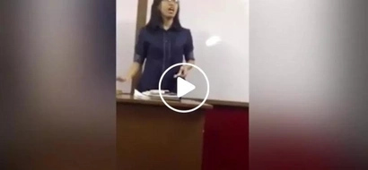 Pinay professor goes viral after student uploaded video of her singing 'Versace on the Floor'