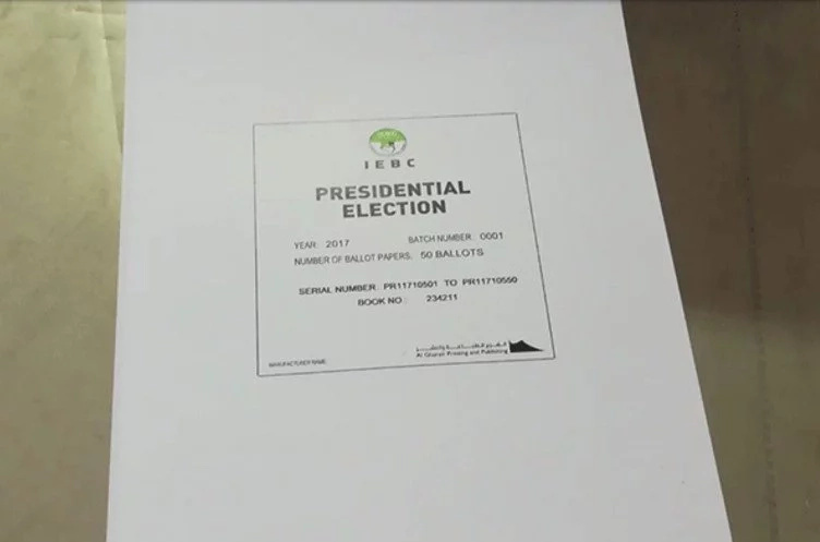 The tight security features of the presidential ballot paper that will bear Raila and Uhuru's names