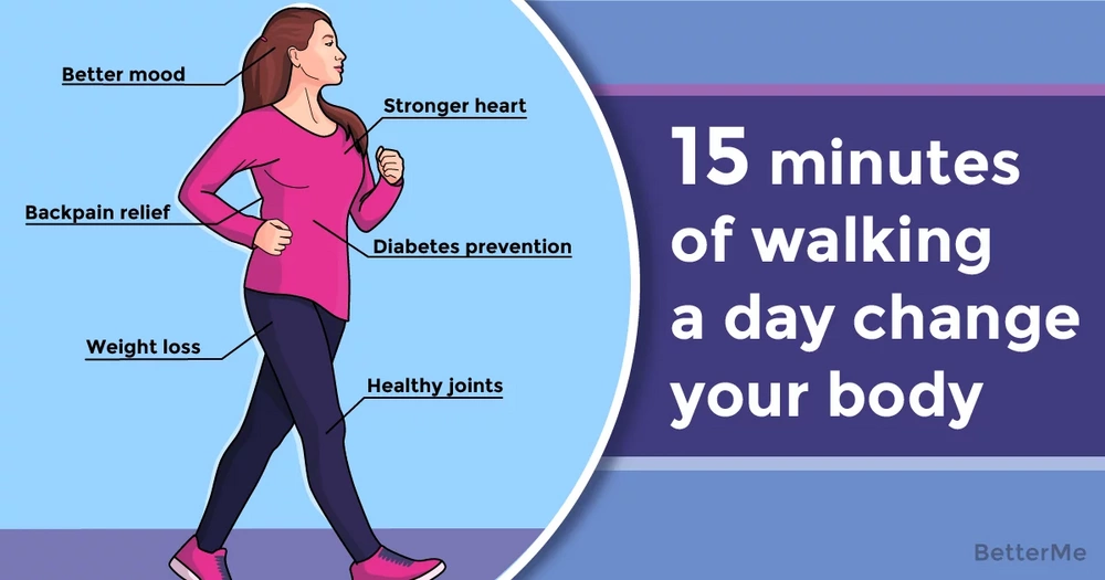 How 15 minutes of walking per day can change your body