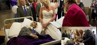 Heartfelt ceremony! Terminally ill man gets married on his deathbed, with the help of strangers (photos)