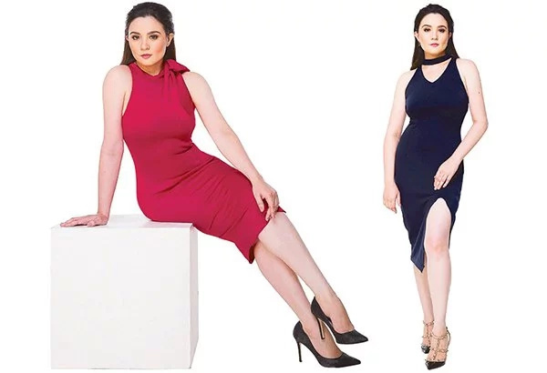 Sunshine Dizon flashes slimmer figure in red