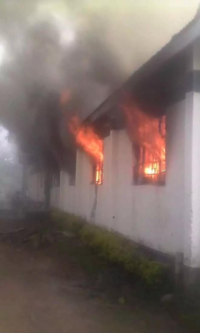 Kaimosi Boys school dorm engulfed in fire