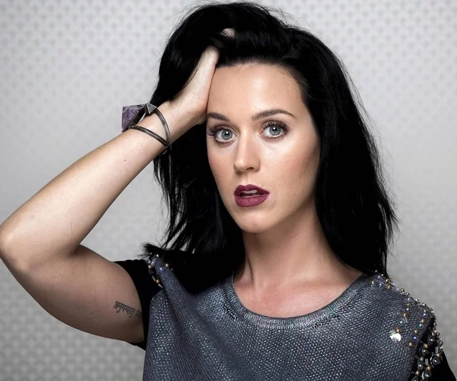 Katy Perry before she shaved her black hair