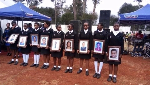 Emotions run high at memorial of Moi Girls High school fire victims (photos)