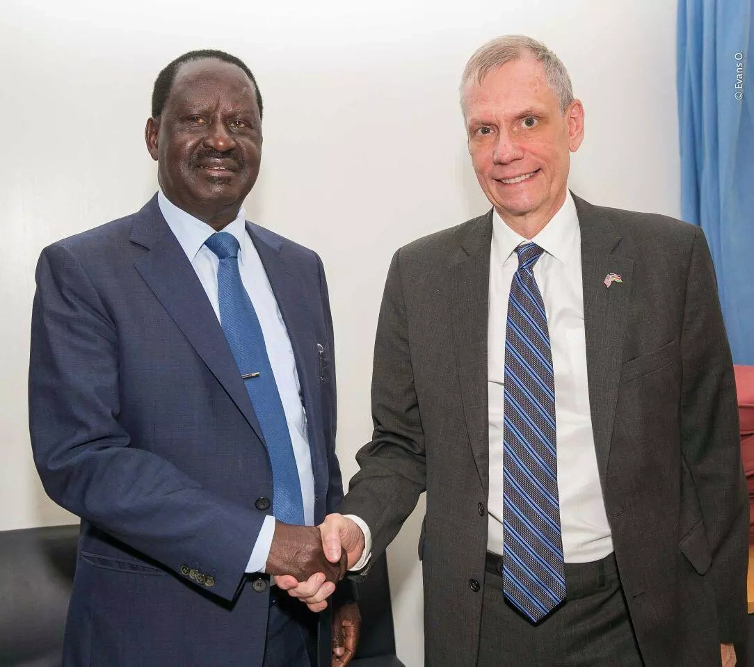 Raila claims foreign envoys are in business with Uhuru