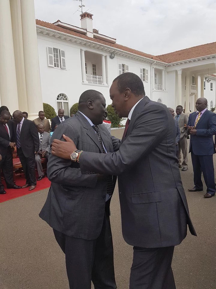 President Uhuru meets with politician who insulted him