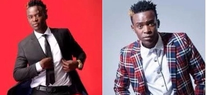 Willy Paul caught walking shirtless while exposing his underwear in America (photos)