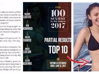 Take a look at this post of a netizen who bashed Nadine Lustre saying that she does not deserve the #1 Spot on FHM's poll
