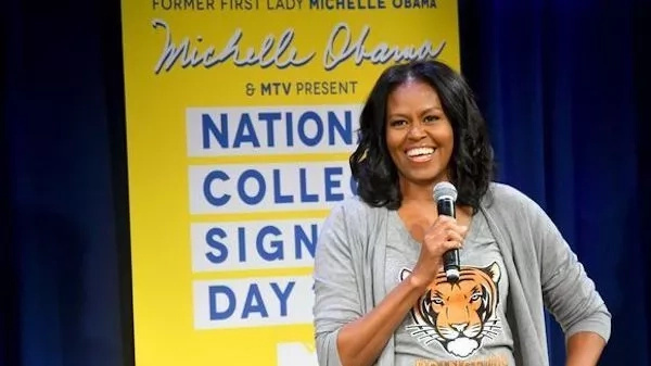 Michelle Obama also attended the fourth annual College Signing Day