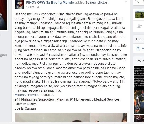 Netizen recalls emotional 911 experience