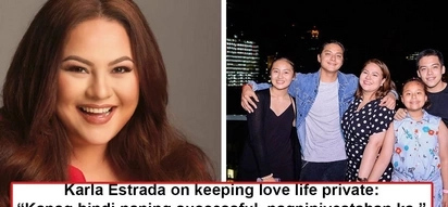 Nakaapat na pala siya! Karla Estrada feels embarrassed to talk about love life due to four failed relationships!