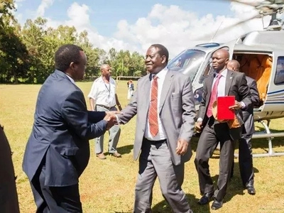 Photos: Governors welcome Raila to close devolution conference in Meru
