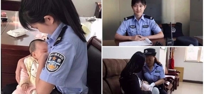 Policewoman breastfeeds hungry baby of suspect who was attending trial