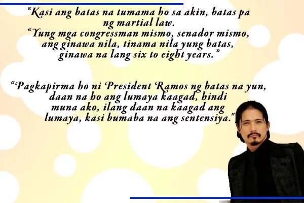 """""""Ako po'y nakisama, ako'y pumarehas.."""" Robin Padilla opens up about his experiences as an inmate in New Bilibid Prison"""