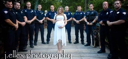 PHOTOS: Dad cop killed on duty; how his pregnant wife honors him will make you cry