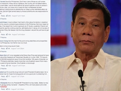 How did Singaporeans react to Duterte's methods? Find out
