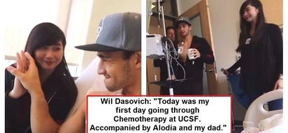 Wil Dasovich underwent his first day of chemotherapy! His dad and Alodia Gosiengfiao were with him every step of the way!
