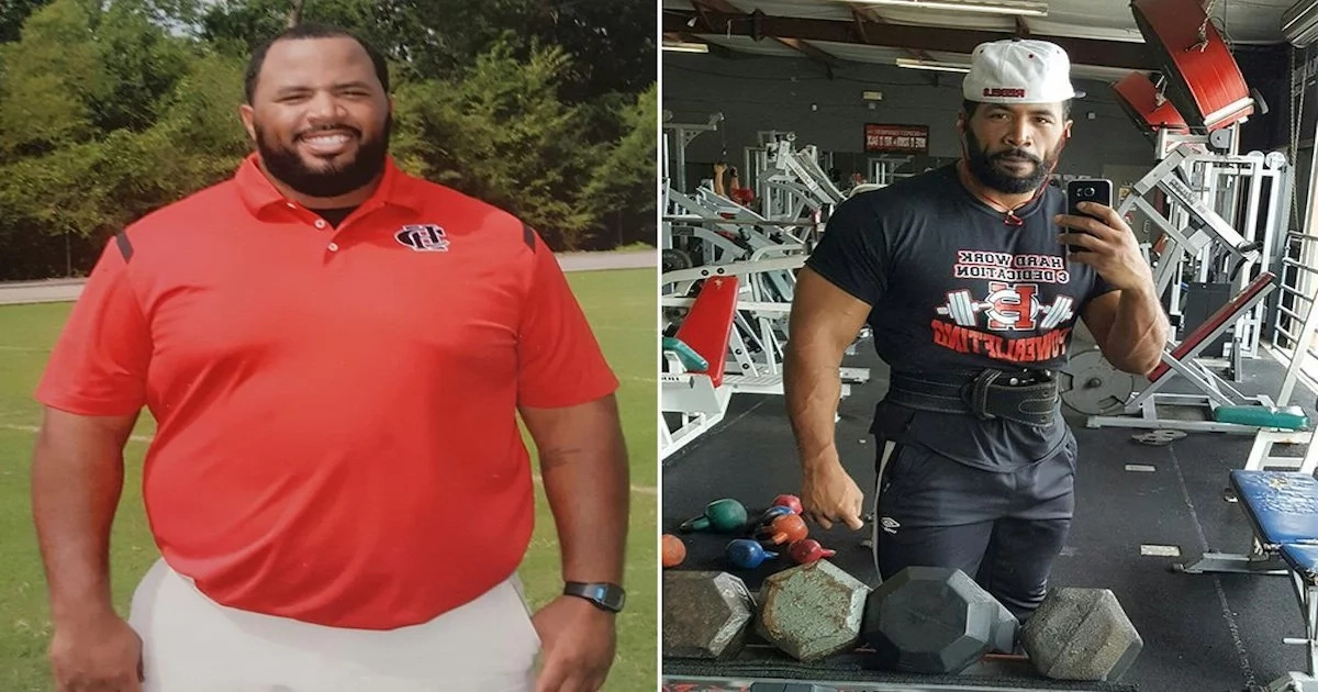 Jaw-dropping! Teacher who weighs 160 kg uses own transformation to inspire his students (photos, video)