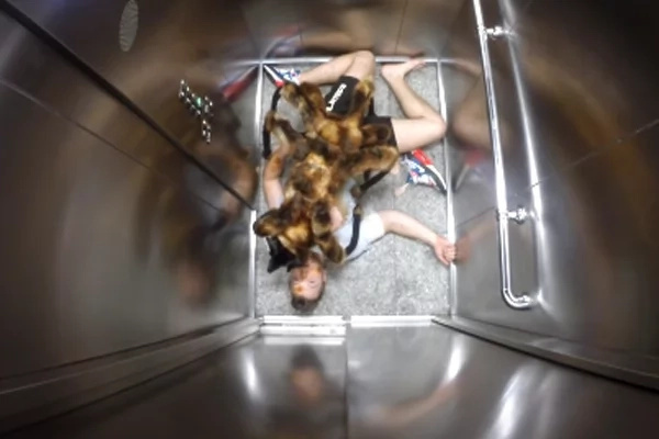 He used elevator and his 'spider'