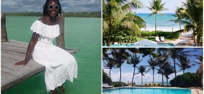 Lupita Nyong'o enjoys some time off at exclusive Mexican beach getaway