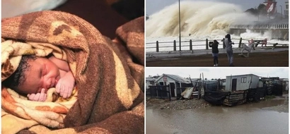 Born in a storm! Miracle baby is delivered during MASSIVE South African storm (photos)