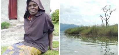 Sad! Ugandan woman left on island to DIE at age of 12 for getting pregnant (photos, video)