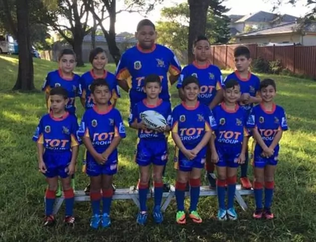 The gentle giant: Meet 100kg rugby player aged only 7 but taking the game by a storm
