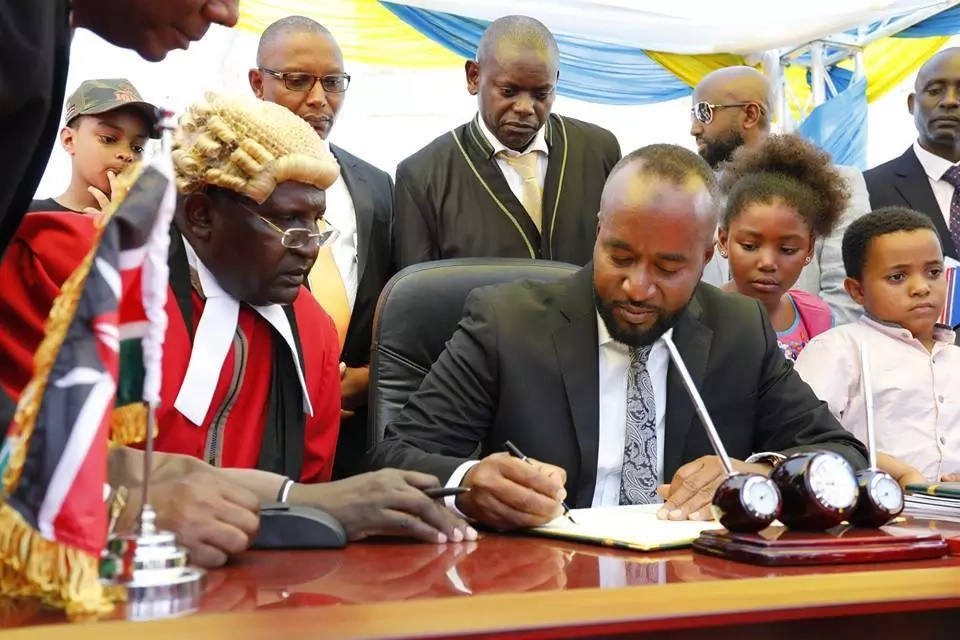 Rarely seen photos of Joho's children at his inauguration
