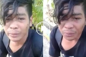 This man bursts out into tears while walking from Baler to his home in Benguet as his employer did not give his salary