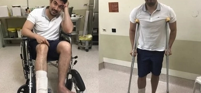 """""""So Yes, i have a fractured foot with quite a long healing time.."""" Luis Manzano On Instagram"""