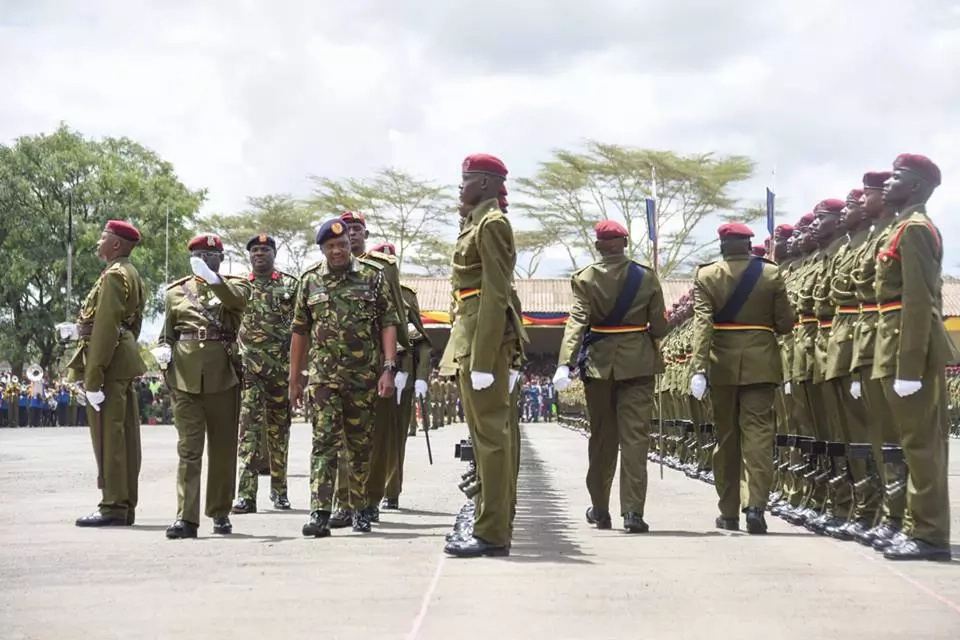 Photos: Uhuru Kenyatta in military uniform at GSU parade